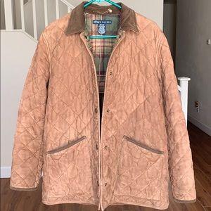 Vintage Ralph Lauren Suede Quilted Coat